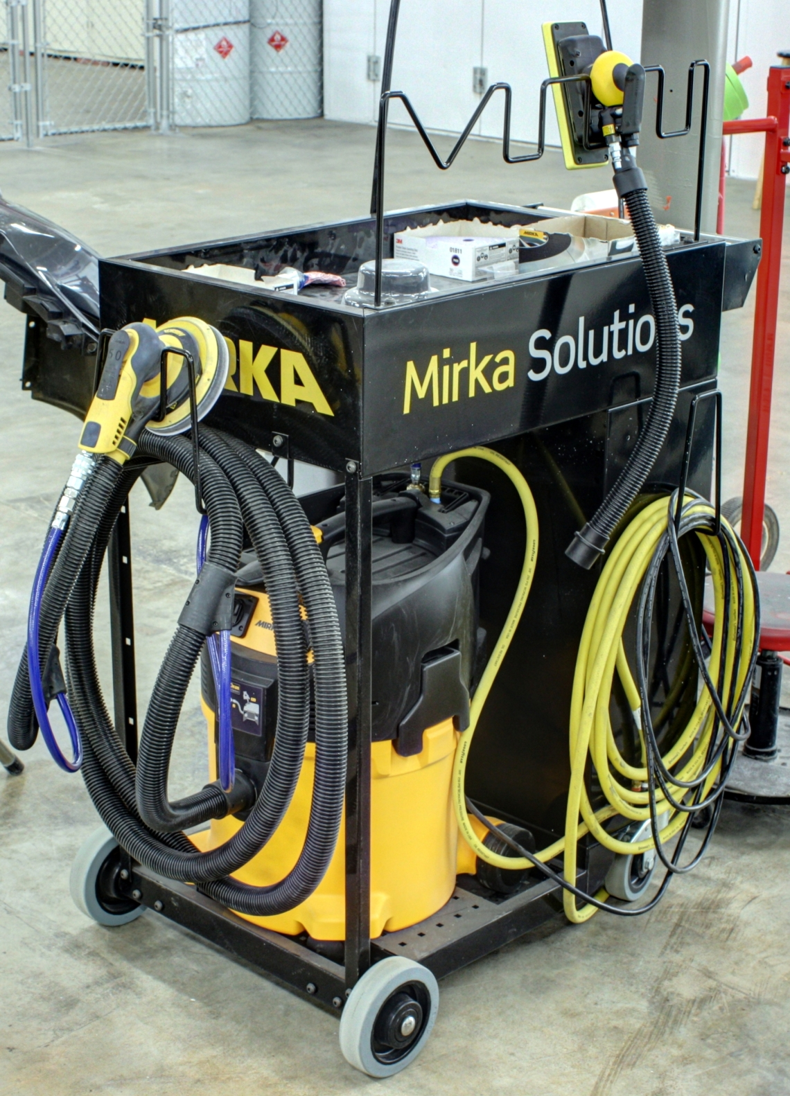 Mirka Solutions Smart Cart for dust free sanding